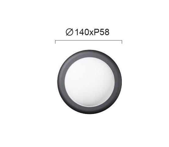 Настінний вуличний світильник Viokef MINOS 4189500