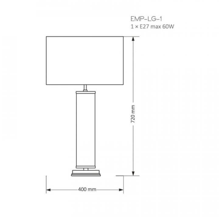 Настільна лампа Kutek MOOD EMPOLI EMP-LG-1(Z)