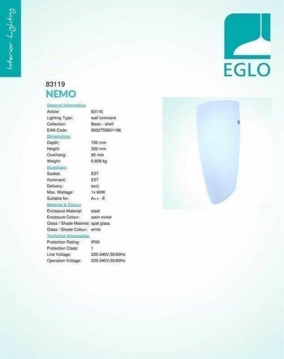 Бра Eglo NEMO 83119