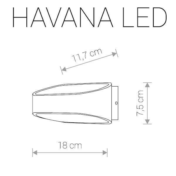 Настінний вуличний світильник Nowodvorski HAVANA LED 9511
