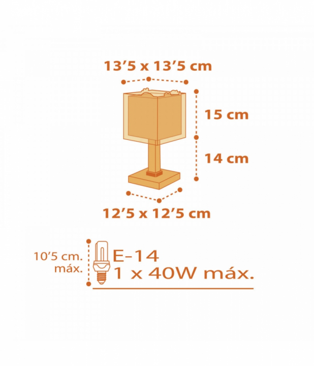 Настільна лампа Dalber Dinos 73451