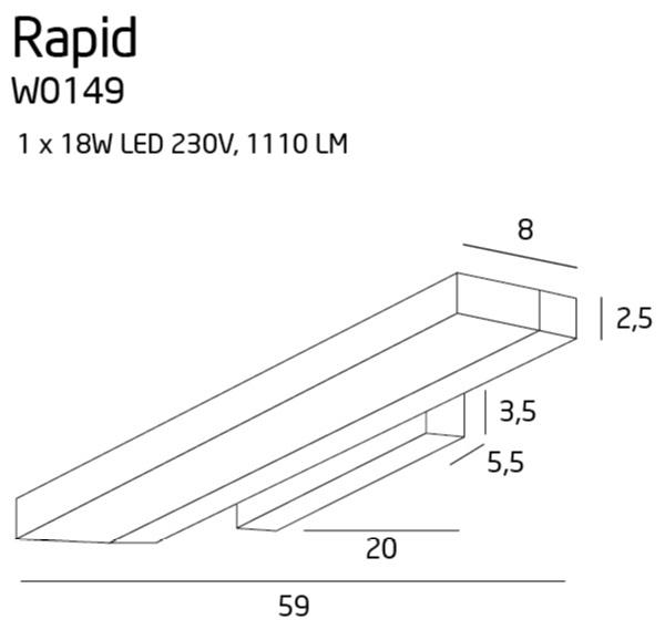 Бра Maxlight RAPID W0149