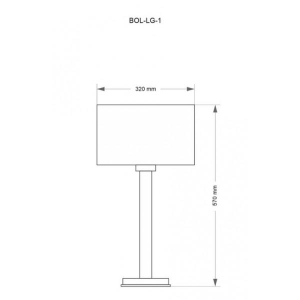 Настільна лампа Kutek BOLT BOL-LG-1(N)