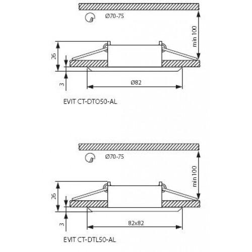 Точечный светильник Kanlux EVIT CT-DTO50-AL 18561