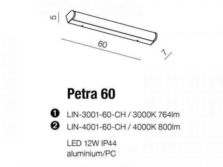 Бра AZzardo PETER 60 3000K AZ2472 (LIN300360CH)