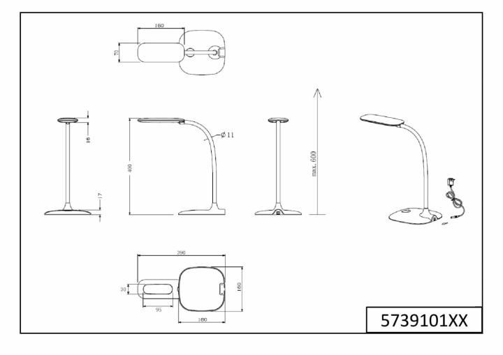 Настольная лампа TRIO POLLY 573910101