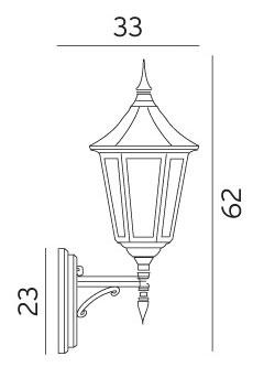 Настінний світильник Norlys Modena 350B