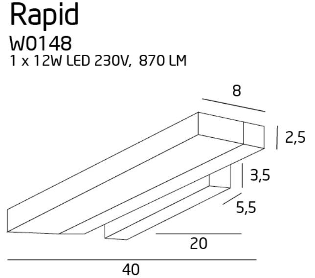 Бра Maxlight RAPID W0148