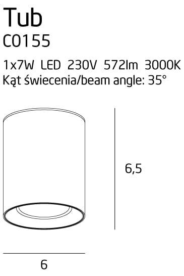 Точечный светильник Maxlight TUB C0155
