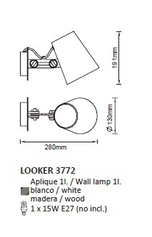 Бра Mantra LOOKER 3772