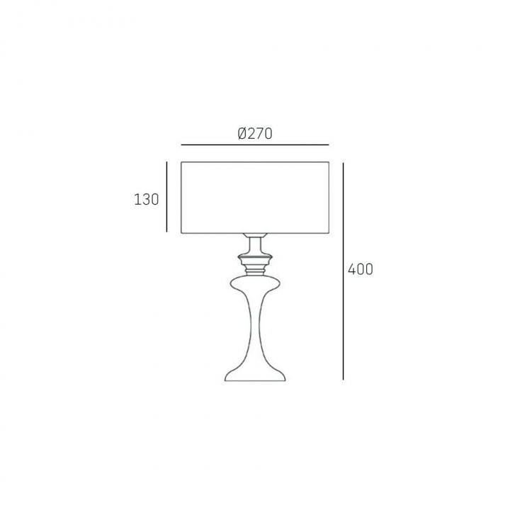 Настільна лампа CosmoLight Abu Dhabi T01413WH