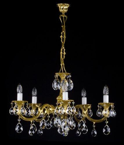 Люстра ArtGlass ALICE V. (POLISHED, BRASS ANTIQUE, WHITE GOLD, MATT BRASS)