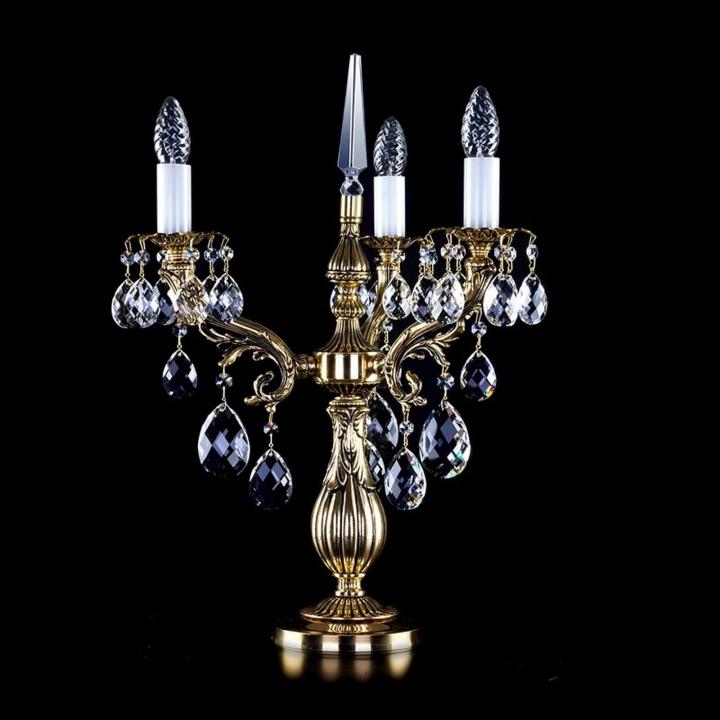Настольная лампа ArtGlass AMBER III. (POLISHED, BRASS ANTIQUE, WHITE GOLD, MATT BRASS) CE