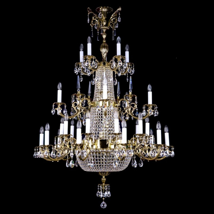 Люстра ArtGlass ARABELA 1200x1700 (POLISHED, BRASS ANTIQUE, WHITE GOLD, MATT BRASS) CE