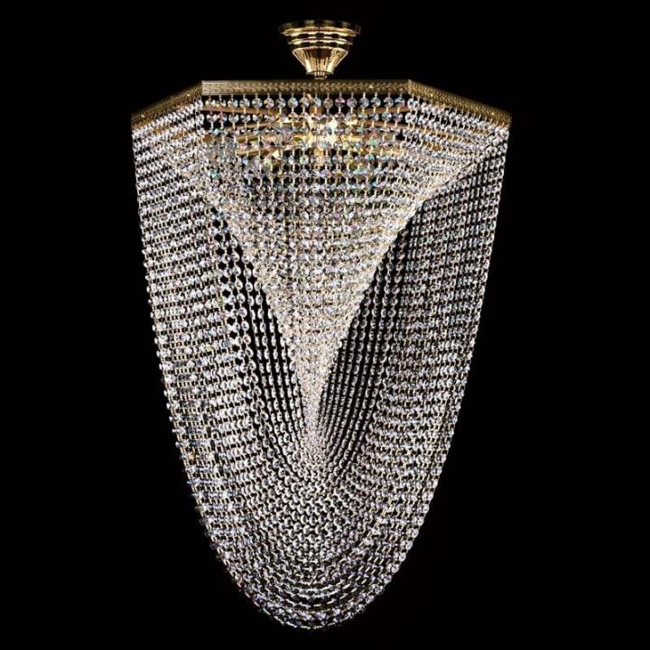 Люстра ArtGlass CARLISLE (POLISHED, BRASS ANTIQUE, WHITE GOLD, MATT BRASS) CE