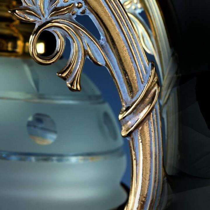 Люстра ArtGlass CASSANDRA V. (POLISHED, BRASS ANTIQUE, WHITE GOLD, MATT BRASS) CE