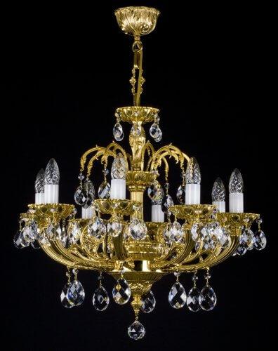 Люстра ArtGlass CORNELIA VIII. (POLISHED, BRASS ANTIQUE, WHITE GOLD, MATT BRASS)