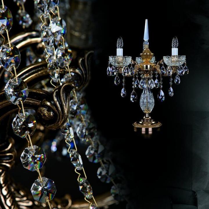 Настольная лампа ArtGlass CR 0006/03/20  (POLISHED, BRASS ANTIQUE, WHITE GOLD, MATT BRASS) CE