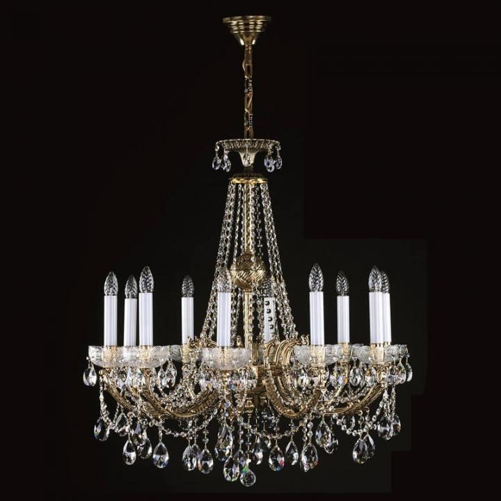 Люстра ArtGlass CR 0006/10/20 (POLISHED, BRASS ANTIQUE, WHITE GOLD, MATT BRASS) CE