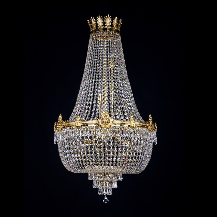 Люстра ArtGlass EVITA 600x1000 (POLISHED, BRASS ANTIQUE, WHITE GOLD, MATT BRASS) CE