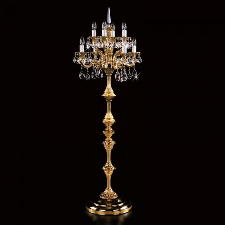 Торшер ArtGlass FELICITA (POLISHED, BRASS ANTIQUE, WHITE GOLD, MATT BRASS)