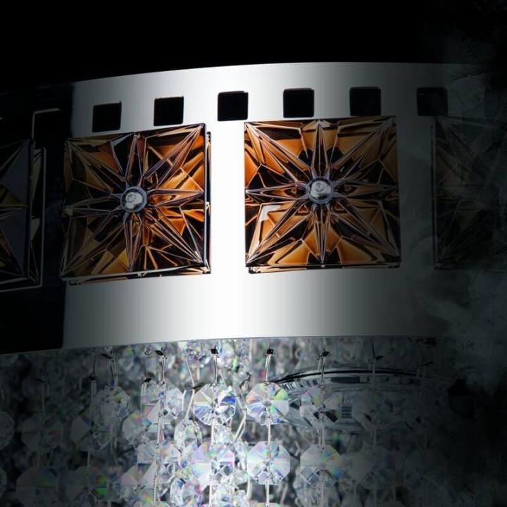 Люстра ArtGlass FLAME 700x1600 CE