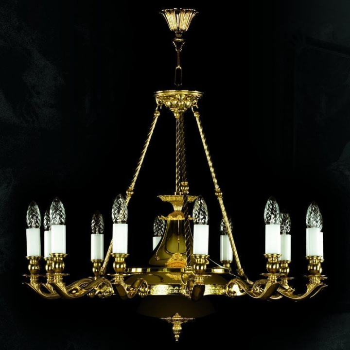 Люстра ArtGlass GERALDINA (BLACK, POLISHED, BRASS ANTIQUE, WHITE GOLD, MATT BRASS)