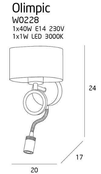 Бра Maxlight OLIMPIC W0228