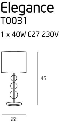 Настільна лампа Maxlight ELEGANCE T0031