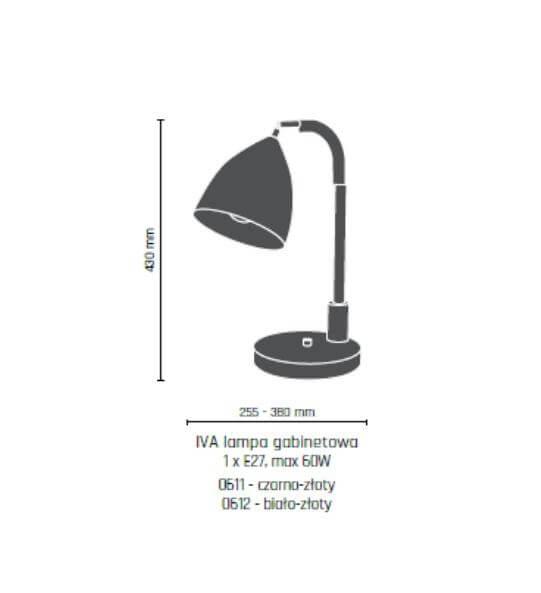Настільна лампа Amplex IVA 0611