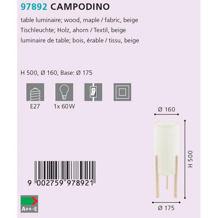 Настільна лампа Eglo CAMPODINO 97892
