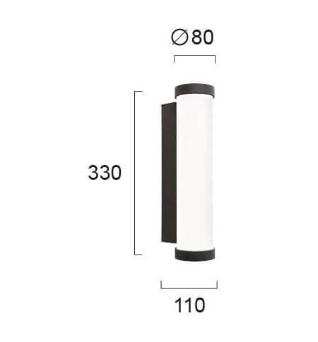 Настінний вуличний світильник Viokef LUX 4209100