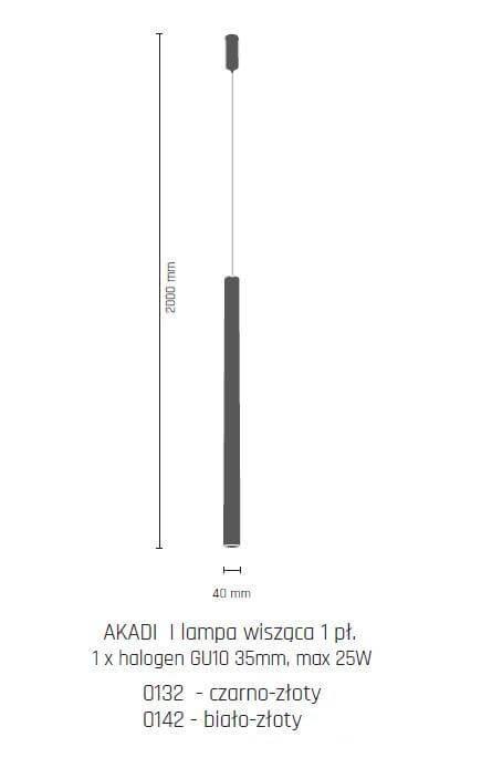 Підвісний світильник Amplex AKADI 0142
