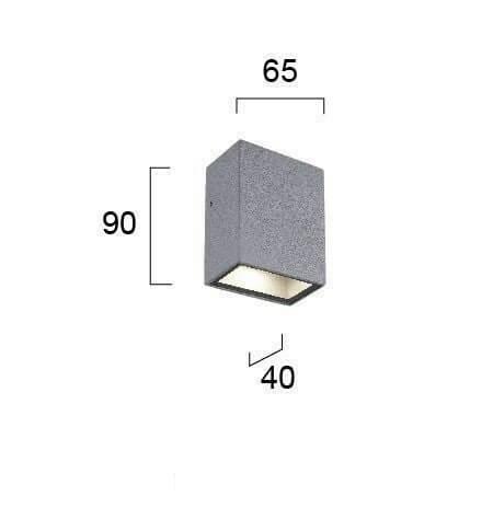 Настінний вуличний світильник Viokef TECH 4087600