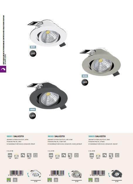 Точечный светильник Eglo SALICETO 98609
