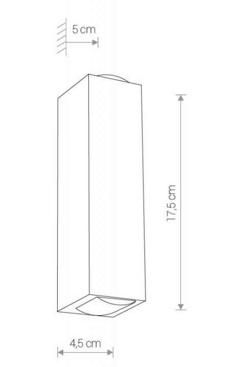 Настінний вуличний світильник Nowodvorski LENS LED 9112