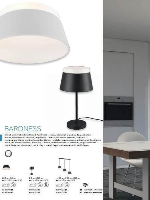 Настільна лампа TRIO BARONESS 508900242