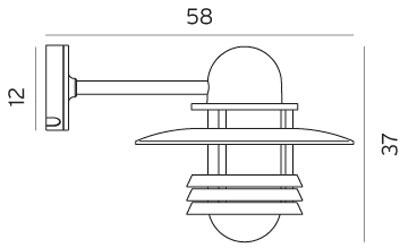 Настінний вуличний світильник Norlys Helsinki 886GR