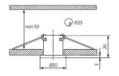 Точечный светильник Kanlux ELSE CT-2116C-C 821