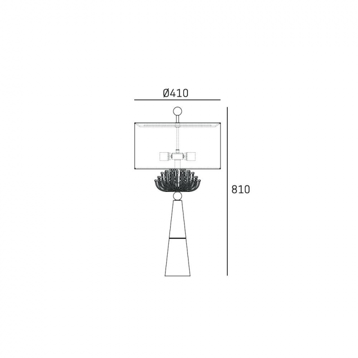 Настільна лампа CosmoLight Cartagena T02004AU