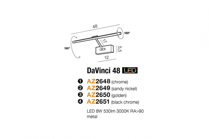 Бра AZzardo DAVINCI 48 AZ2648