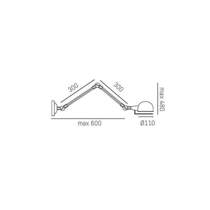 Бра CosmoLight Detroit W01765BK