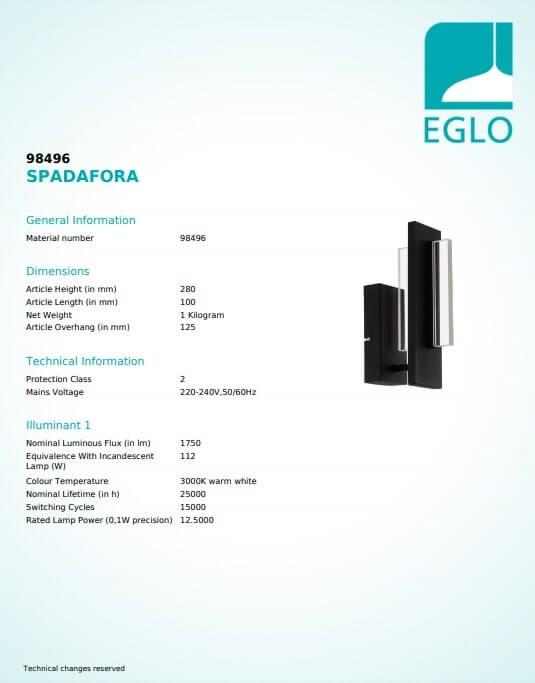 Бра Eglo SPADAFORA 98496