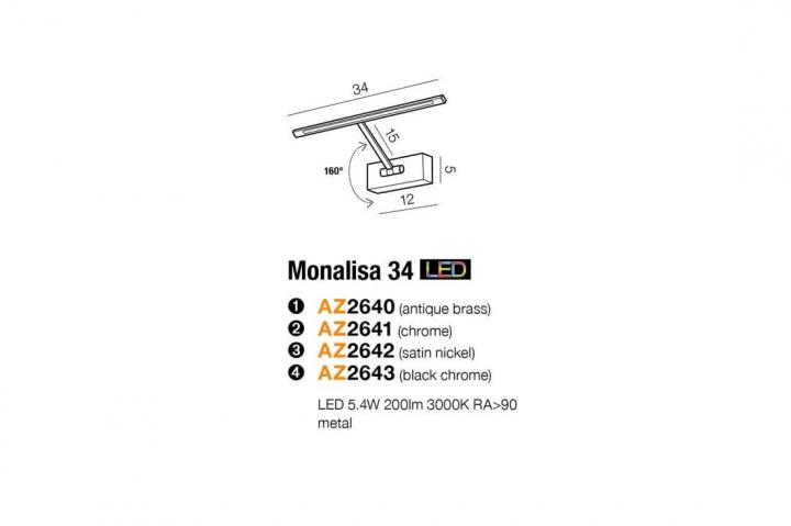 Бра AZzardo MONALISA 34 AZ2643