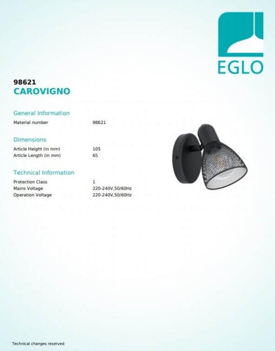 Бра Eglo CAROVIGNO 98621