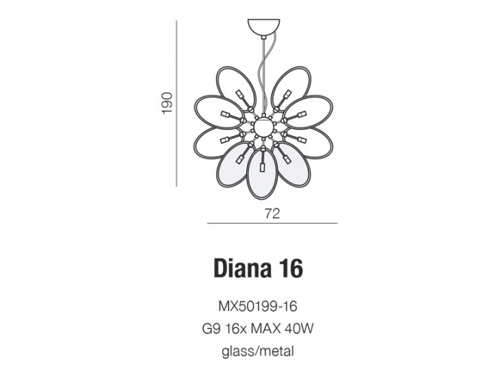 Люстра AZzardo DIANA 16 AZ2155 (MX5019916 )