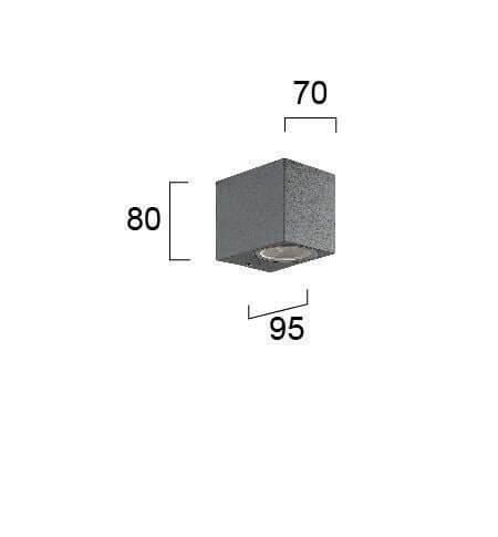 Настінний вуличний світильник Viokef TILOS 4099500