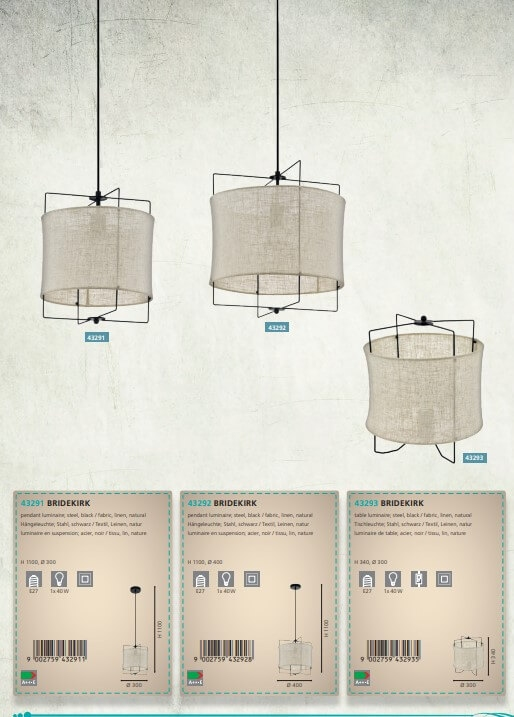 Настільна лампа Eglo BRIDEKIRK 43293