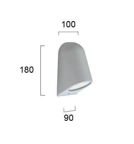 Настінний вуличний світильник Viokef HYDRA 4136200