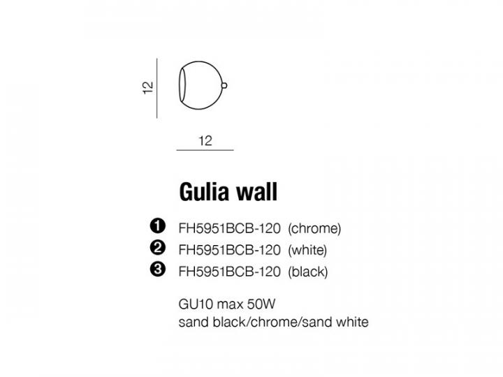 Бра AZzardo GULIA AZ1235 (FH5951BCB1201BK )